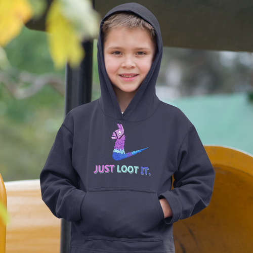 Just Loot It Kids' Hoodie Fortnite Video Game Sweatshirt