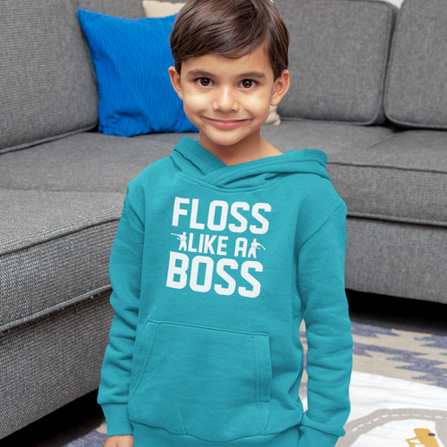 Floss Like A Boss Kids' Hoodie Fortnite Video Game Sweatshirt