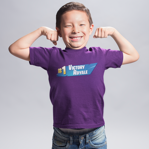 Victory Royale Kid's Fortnite Video Game T-Shirt