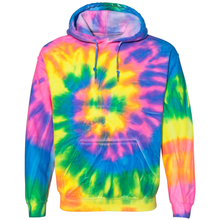 Load image into Gallery viewer, OmniTee Neon Trip Tie Liquid Cyclone Dye Hand Dyed Hoodie Front