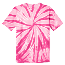 Load image into Gallery viewer, OmniTee Pink Blossom Liquid Pinwheel Hand Dyed Youth T-Shirt Back
