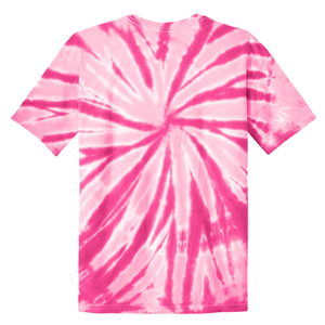 OmniTee Pink Blossom Liquid Pinwheel Hand Dyed Youth T-Shirt Back