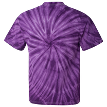 Load image into Gallery viewer, OmniTee Purple Daze Tie Dye Liquid Whirlwind Hand Dyed T-Shirt Back