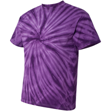 Load image into Gallery viewer, OmniTee Purple Daze Tie Dye Liquid Whirlwind Hand Dyed T-Shirt Side