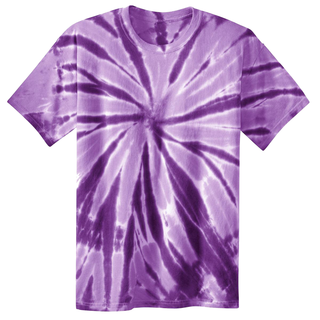 OmniTee Purple Phaze Liquid Pinwheel Hand Dyed Youth T-Shirt Front
