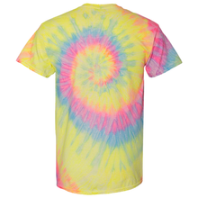 Load image into Gallery viewer, OmniTee RainGlo Tie Dye Liquid Cyclone Hand-Dyed T-Shirt Back