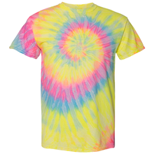 Load image into Gallery viewer, OmniTee RainGlo Tie Dye Liquid Cyclone Hand-Dyed T-Shirt Front