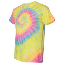 Load image into Gallery viewer, OmniTee RainGlo Tie Dye Liquid Cyclone Hand-Dyed T-Shirt Side
