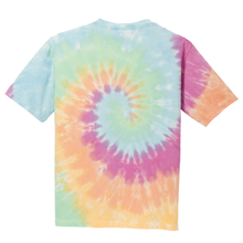 Load image into Gallery viewer, OmniTee Rainbow Haze Liquid Tornado Hand Dyed Youth T-Shirt Back