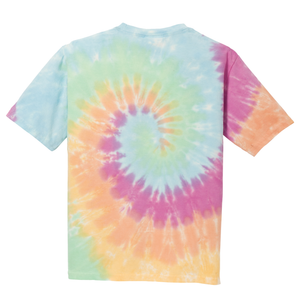 OmniTee Rainbow Haze Liquid Tornado Hand Dyed Youth T-Shirt Back