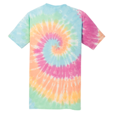 Load image into Gallery viewer, OmniTee Rainbow Haze Liquid Tornado Hand Dyed T-Shirt Back