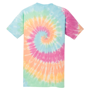OmniTee Rainbow Haze Liquid Tornado Hand Dyed T-Shirt Back