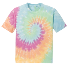 Load image into Gallery viewer, OmniTee Rainbow Haze Liquid Tornado Hand Dyed Youth T-Shirt Front