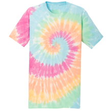 Load image into Gallery viewer, OmniTee Rainbow Haze Liquid Tornado Hand Dyed T-Shirt Front