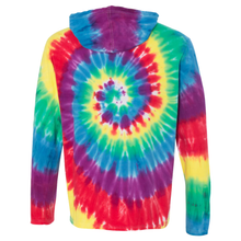 Load image into Gallery viewer, OmniTee Rainbow Tie Dye Liquid Cyclone Hand Dyed Hoodie Back