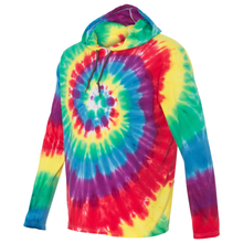 Load image into Gallery viewer, OmniTee Rainbow Tie Dye Liquid Cyclone Hand Dyed Hoodie Side