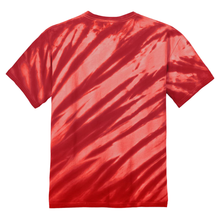 Load image into Gallery viewer, OmniTee Red Blaze Liquid Flow Hand Dyed T-Shirt Back