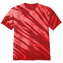 Load image into Gallery viewer, OmniTee Red Blaze Liquid Flow Hand Dyed T-Shirt Front