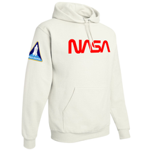 Load image into Gallery viewer, NASA Red Worm Logo Shuttle Patch Custom Pullover Hoodie - Right Side