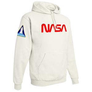 NASA Red Worm Logo Shuttle Patch Custom Pullover Hoodie - Right Side