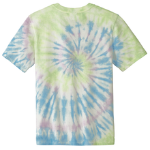 Load image into Gallery viewer, OmniTee Seafoam Spiral Liquid Tornado Hand Dyed T-Shirt Back