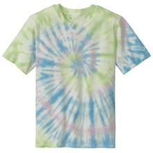 Load image into Gallery viewer, OmniTee Seafoam Spiral Liquid Tornado Hand Dyed T-Shirt Front