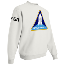 Load image into Gallery viewer, NASA Black Worm Patch Shuttle Logo Crewneck Sweater - Right Side