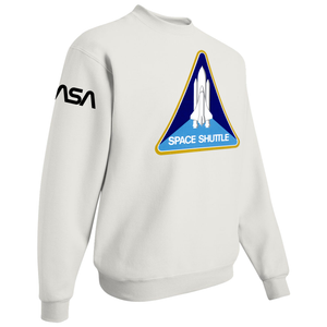 NASA Black Worm Patch Shuttle Logo Crewneck Sweater - Right Side