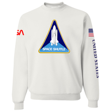 Load image into Gallery viewer, NASA Red Worm Patch Shuttle Logo Crewneck Sweater - Front