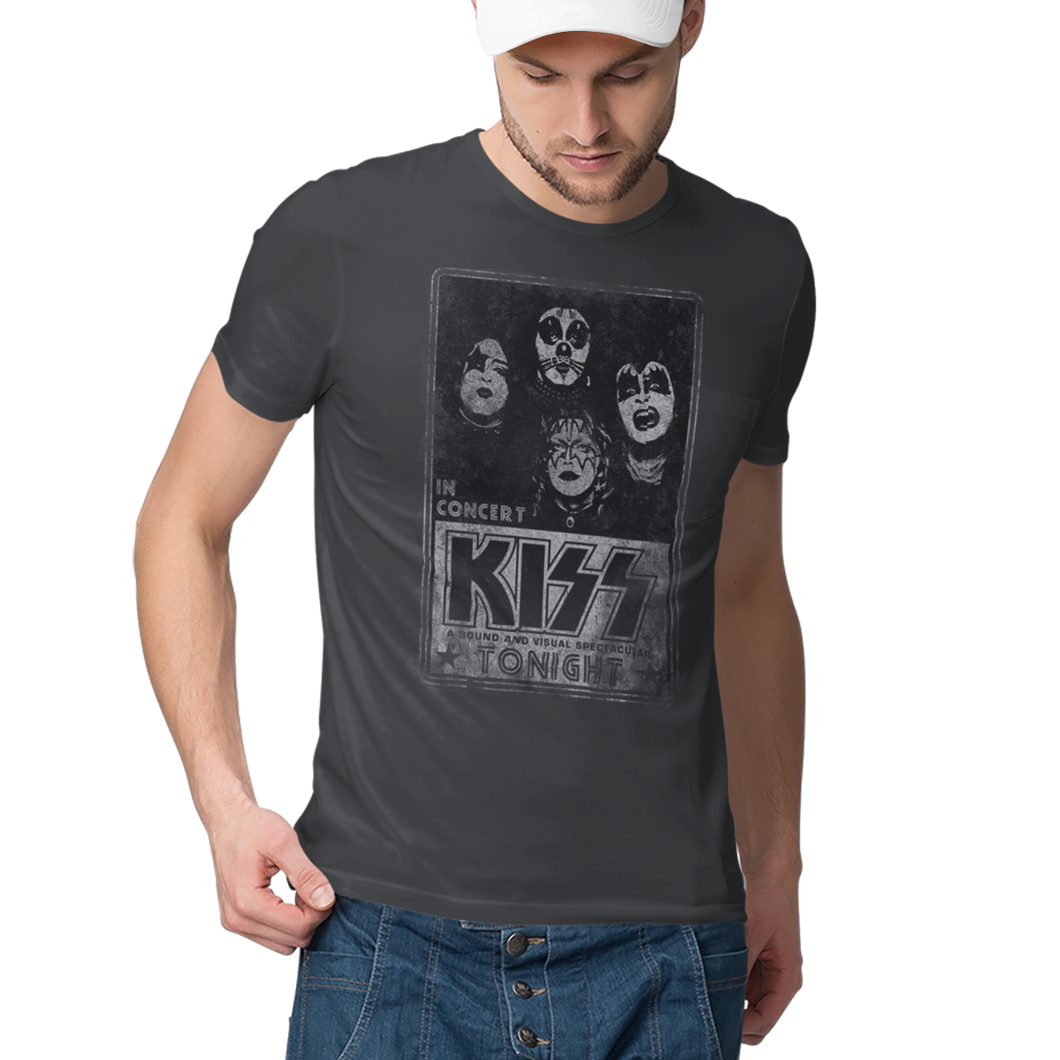 Kiss Concert Poster  Slim Fit Band T-Shirt