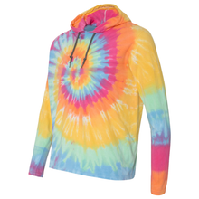 Load image into Gallery viewer, OmniTee Sunshine Daydream Tie Dye Liquid Cyclone Hand Dyed Hoodie Side