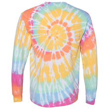 Load image into Gallery viewer, OmniTee Long Sleeve Sunshine Daydream Tie Dye Liquid Cyclone Hand Dyed T-Shirt Back