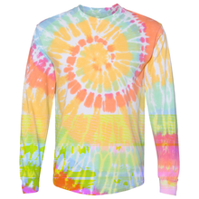 Load image into Gallery viewer, OmniTee Long Sleeve Sunshine Daydream Tie Dye Liquid Cyclone Hand Dyed T-Shirt Front