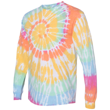 Load image into Gallery viewer, OmniTee Long Sleeve Sunshine Daydream Tie Dye Liquid Cyclone Hand Dyed T-Shirt Side