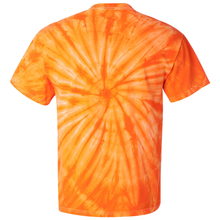 Load image into Gallery viewer, OmniTee Tangerine Dream Tie Dye Liquid Whirlwind Hand Dyed T-Shirt Back