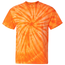 Load image into Gallery viewer, OmniTee Tangerine Dream Tie Dye Liquid Whirlwind Hand Dyed T-Shirt Front