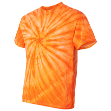 Load image into Gallery viewer, OmniTee Tangerine Dream Tie Dye Liquid Whirlwind Hand Dyed T-Shirt Side