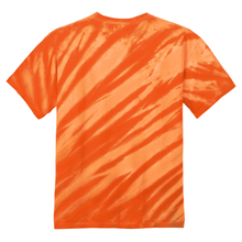 Load image into Gallery viewer, OmniTee Tangerine Tilt Tie Dye Liquid Flow Hand Dyed T-Shirt Back