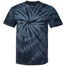 Load image into Gallery viewer, GTS Black Tie Dye Liquid Whirlwind Hand Dyed T-Shirt Front