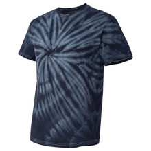 Load image into Gallery viewer, GTS Black Tie Dye Liquid Whirlwind Hand Dyed T-Shirt Side