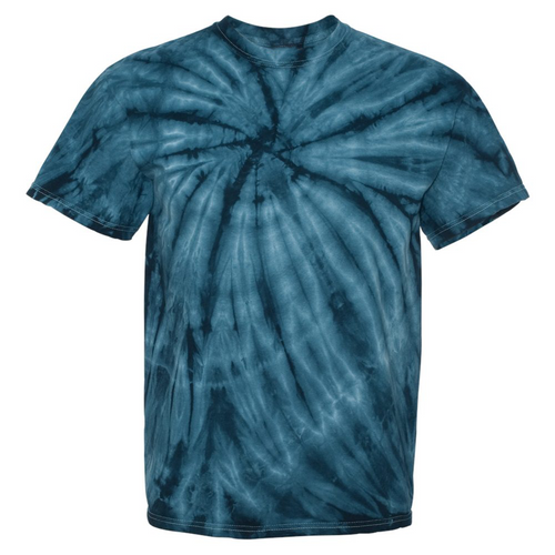 GTS Navy Blue Tie Dye Liquid Whirlwind Hand Dyed T-Shirt Front