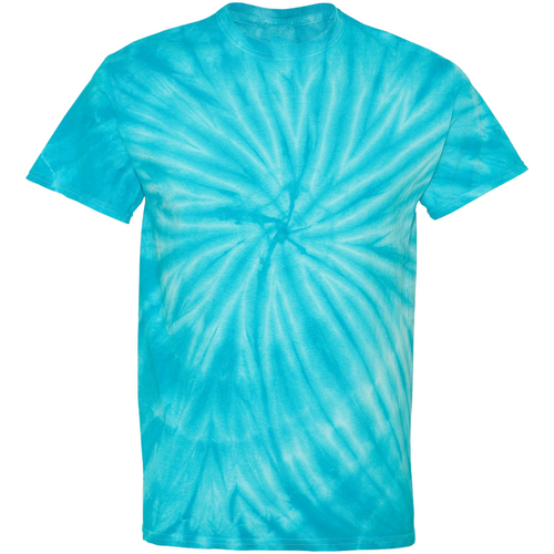 GTS Turquoise Tie Dye Liquid Whirlwind Hand Dyed T-Shirt Front