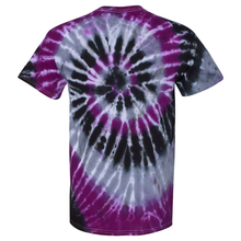 Load image into Gallery viewer, OmniTee Violet Kraken Tie Dye Liquid Cyclone Hand-Dyed T-Shirt Back