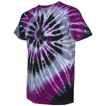 Load image into Gallery viewer, OmniTee Violet Kraken Tie Dye Liquid Cyclone Hand-Dyed T-Shirt Side