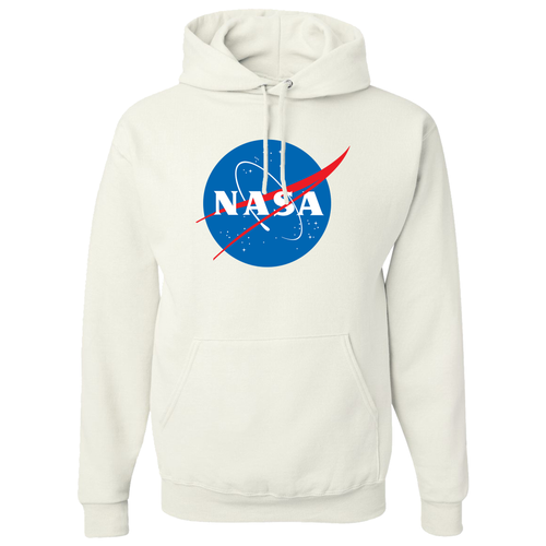 NASA Insignia Meatball Logo Retro White Heavy-Duty Hoodie Sweatshirt