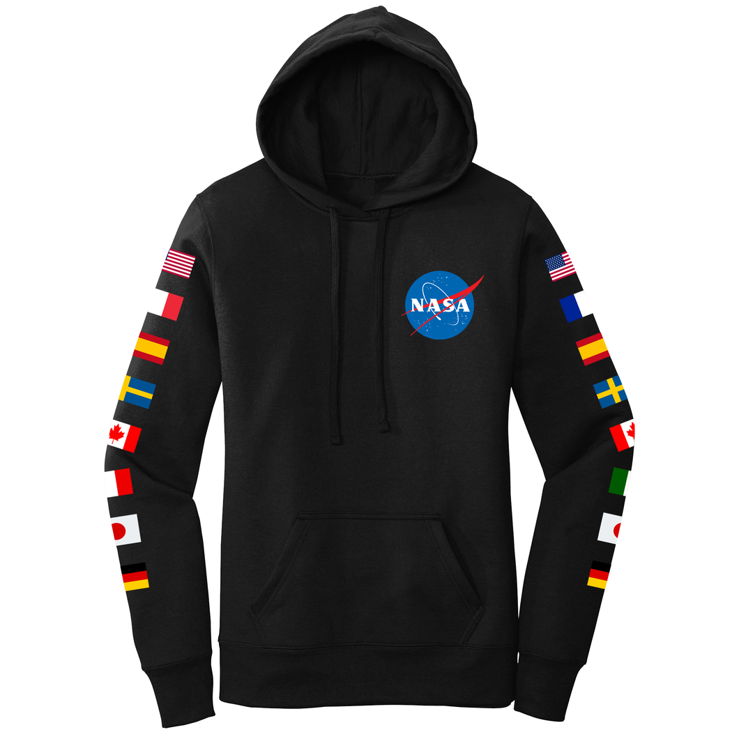 NASA Group 16 Women's Hoodie Black - Front