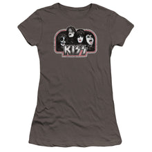 Load image into Gallery viewer, Kiss Throwback Premium Junior Girls Sheer Jersey Band  T-Shirt