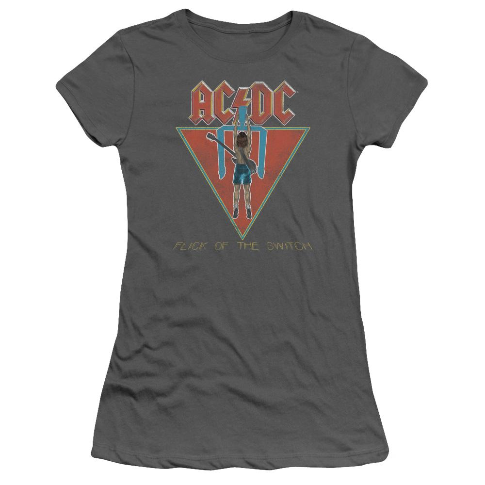 AC/DC Flick Of The Switch Junior Girls Sheer  Band  T-Shirt