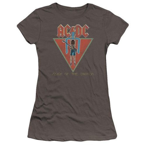 AC/DC Flick Of The Switch Premium Junior Girls Sheer Jersey Band T-Shirt