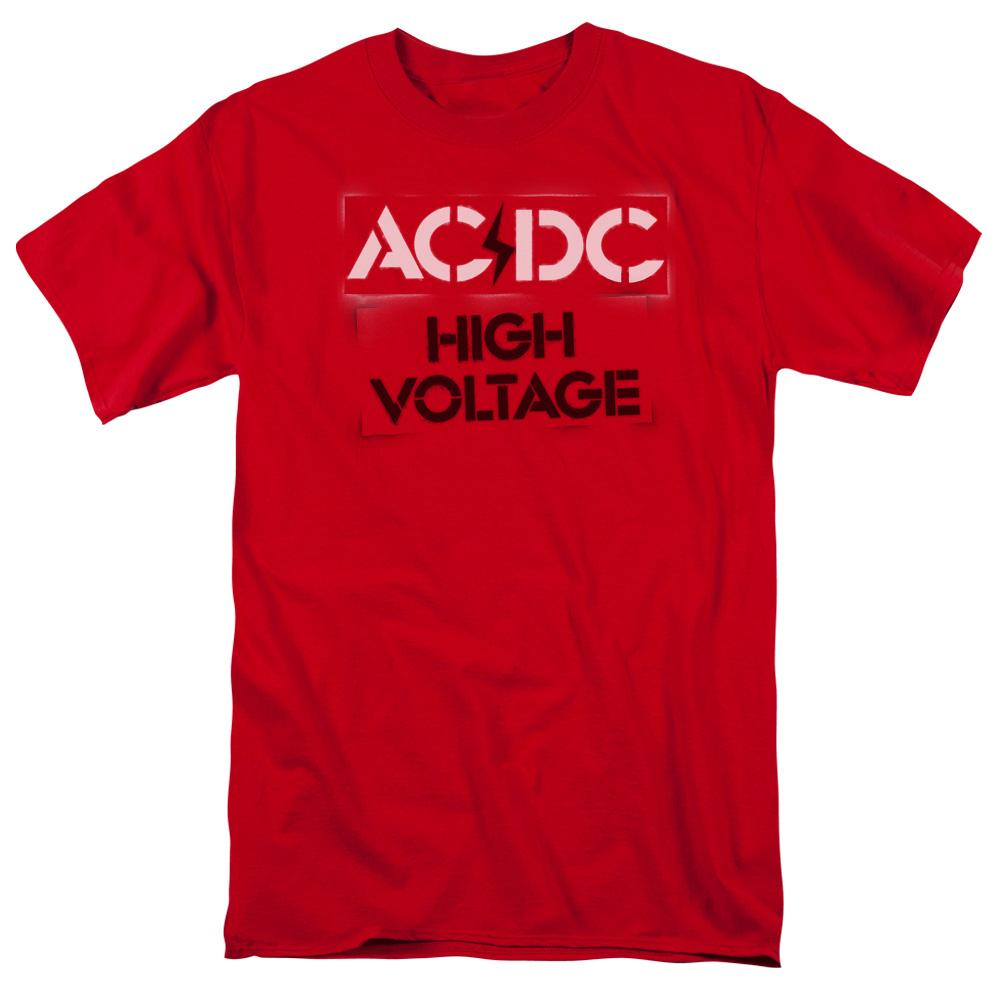 AC/DC High Voltage Stencil  Band T-Shirt